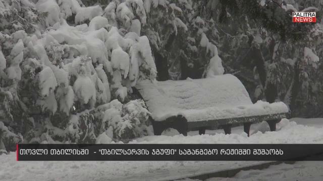 """თბილისში თოვლი მოვიდა - რის გამო აფრთხილებს """"თბილსერვის ჯგუფი"""" მოსახლეობას"""